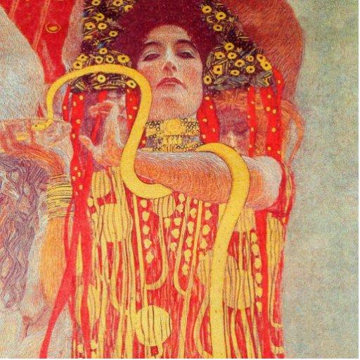 Peinture rouge de serpent d 39 or de femme de gustav photo - Peinture effet serpent ...