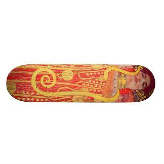 Peinture rouge de serpent d'or de femme de Gustav Skateboards Personnalisés