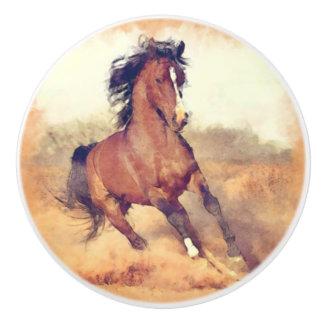 Peinture sauvage d'aquarelle de cheval de mustang
