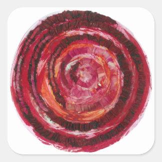 Peinture-Tissu rouge #2 de 1st-Root Chakra Sticker Carré
