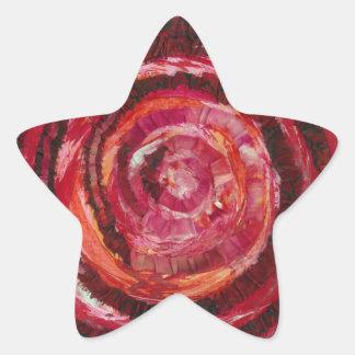 Peinture-Tissu rouge #2 de 1st-Root Chakra Sticker Étoile