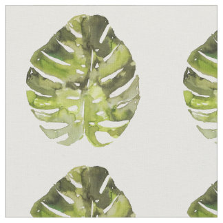 Peinture tropicale de feuille d'aquarelle tissu