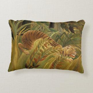 Peinture tropicale d'impression d'art de tigre de coussins décoratifs