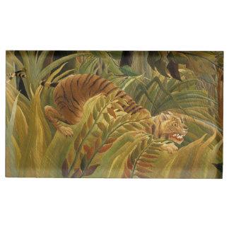 Peinture tropicale d'impression d'art de tigre de porte-cartes de  table