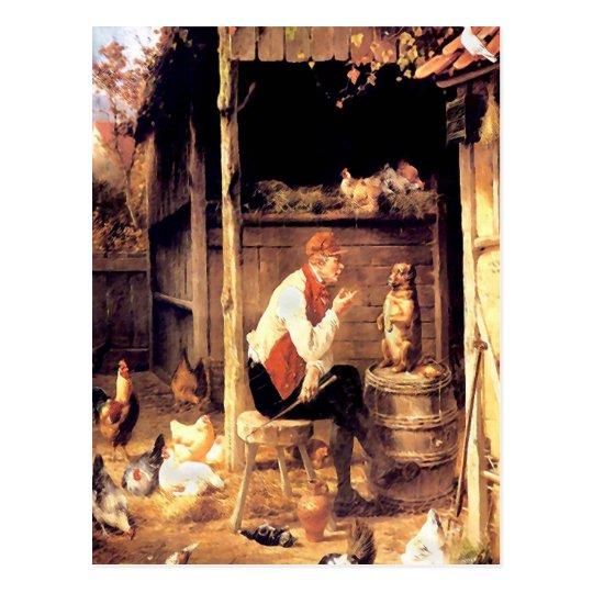 Peinture vintage de beaux-arts de formation de cartes postales