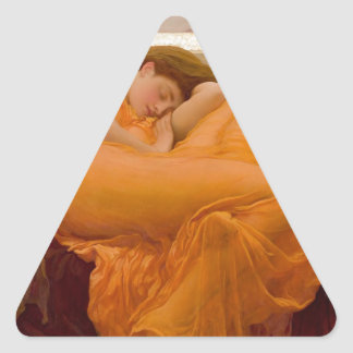 Peinture vintage de carte d'art de flamber juin sticker triangulaire