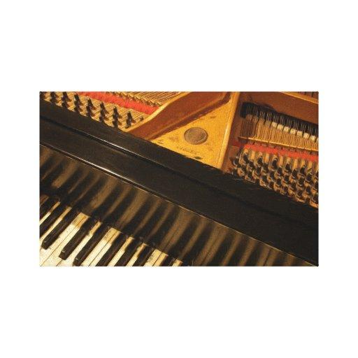 peinture vintage de clavier de piano toile tendue sur ch ssis zazzle. Black Bedroom Furniture Sets. Home Design Ideas