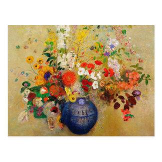 Peinture vintage de fleur carte postale