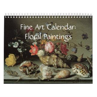 Peintures 2017 florales de calendrier de
