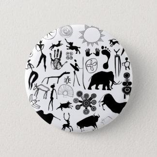 peintures de caverne - art primitif pin's