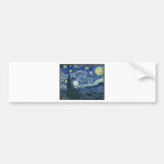 Peintures de Van Gogh : Nuit étoilée Van Gogh Autocollant De Voiture