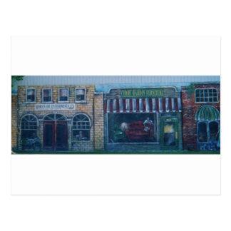 peintures sur le vieux bâtiment (dans l'okla) cartes postales