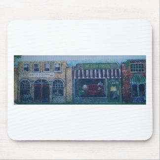 peintures sur le vieux bâtiment (dans l'okla) tapis de souris