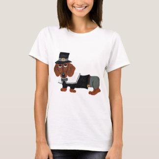 Pèlerin de thanksgiving de teckel t-shirt