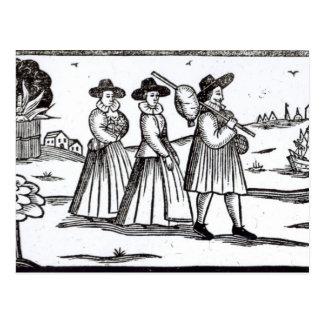 Pèlerins partant pour le nouveau monde carte postale