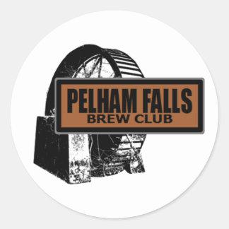 Pelham tombe autocollant rond de club de Brew