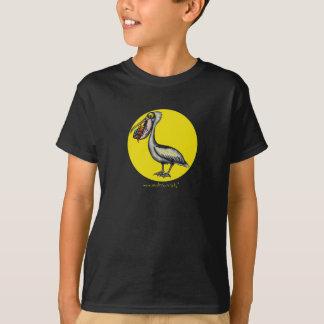 Pélican mignon drôle avec le T-shirt fâché de
