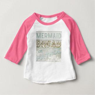 Peloton de sirène sur la patrouille t-shirt pour bébé
