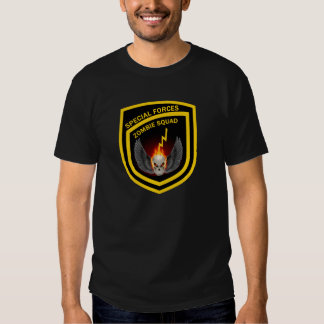 Peloton de zombi de forces spéciales t-shirt