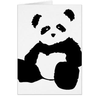 peluche de panda cartes de vœux