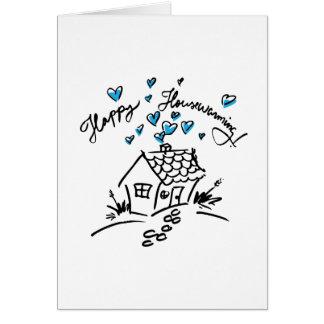 Pendaison de crémaillère heureuse 1 carte de vœux