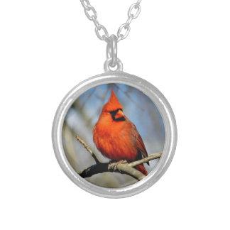 Pendentif cardinal rouge de crête