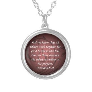 Pendentif chrétien de vers de bible de 8h28 de