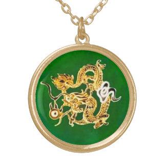 Pendentif de dragon de jade de Feng Shui