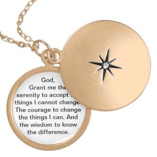 Pendentif de prière de sérénité