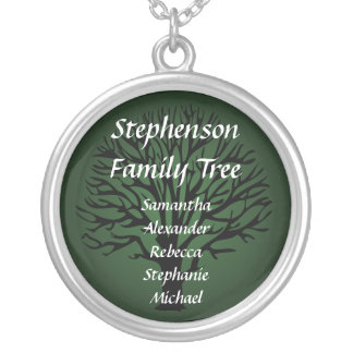 Pendentif nommé personnalisé d arbre généalogique