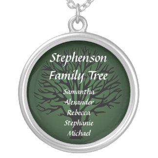 Pendentif nommé personnalisé d'arbre généalogique