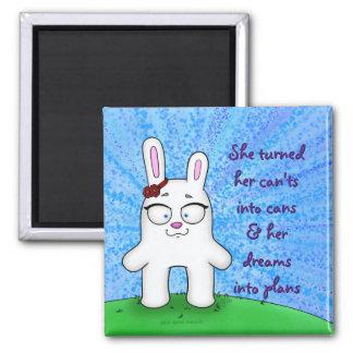Pénélope le lapin, aimant w/quote