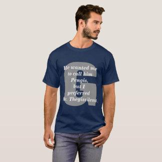 Pengis.  Édition blanche et bleue rouge T-shirt
