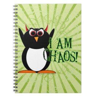 Penguin™ mauvais je suis chaos ! Carnet drôle