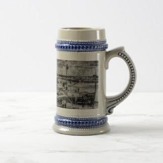 Péniches de navigation de la Tamise vintages Tasse