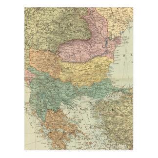 Péninsule balkanique 2 carte postale