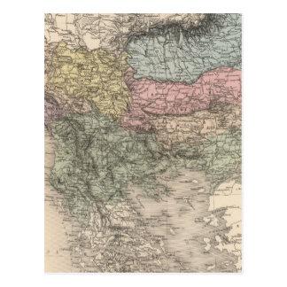 Péninsule balkanique carte postale