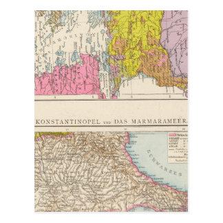 Péninsule balkanique et carte de Constantinople