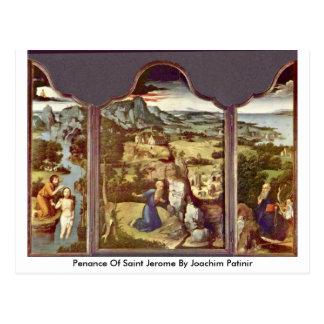 Pénitence de saint Jerome par Joachim Patinir Cartes Postales