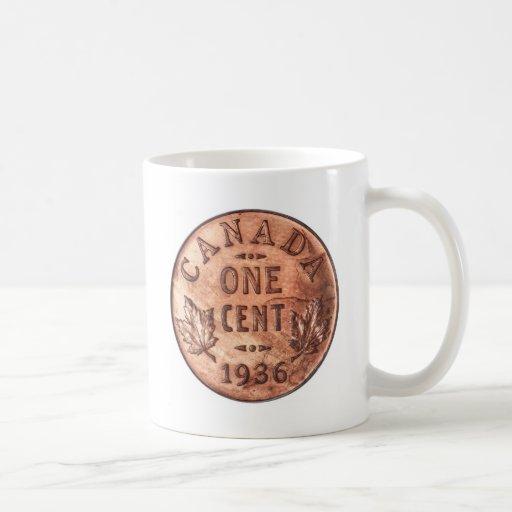 Penny canadien tasses à café