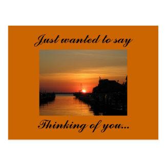 Pensant à vous…, a juste voulu dire cartes postales