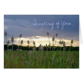 """""""Pensant à vous"""" carte pour notes de photo"""