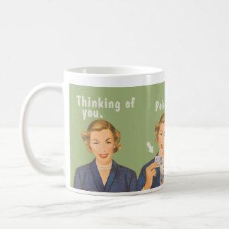 Pensant à vous, poison potable mug blanc