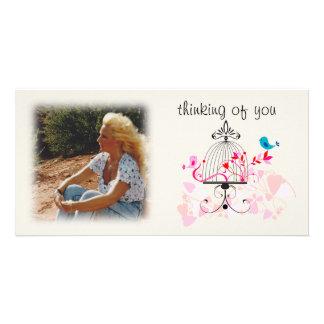 Pensée à vous carte photo cartes de vœux avec photo