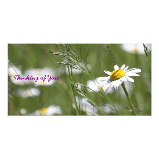 Pensée à vous cartes de vœux avec photo