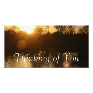Pensée à vous cartes avec photo