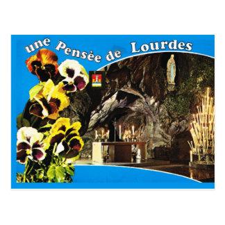 Pensee De Lourdes, pensée d'Une de Lourdes Carte Postale