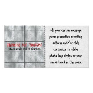 Pensée pour vous-même photocarte personnalisée