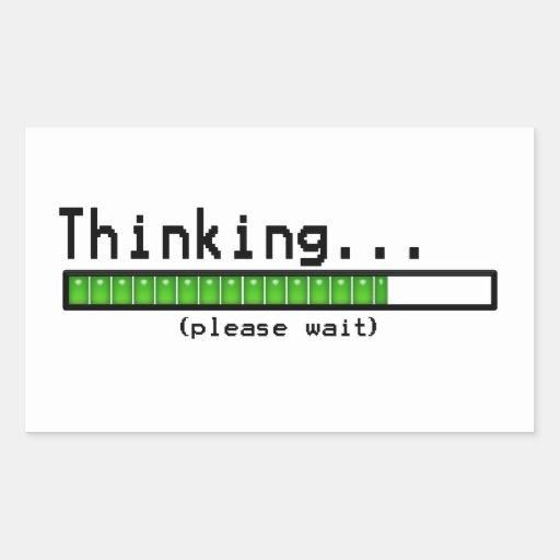 Pensée… Veuillez attendre les autocollants drôles