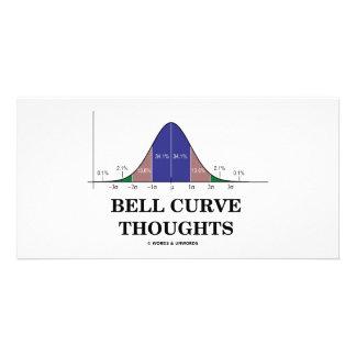 Pensées de courbe de Bell (attitude de statistique Cartes Avec Photo